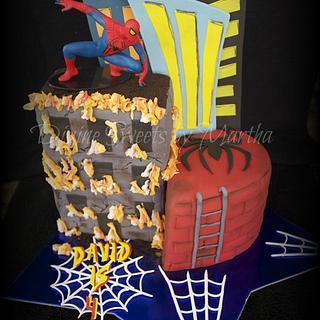 Spiderman cake - Cake by Martha Chirinos Teruel