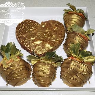 Silver & Gold Strawberries