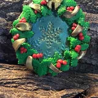 Christmas wreath gingerbread