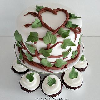 Woodsy Wedding Cake