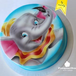 Airbrush Dumbo Cake