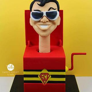 superjosh collaboration cake: Plastic Man  - Cake by Nina