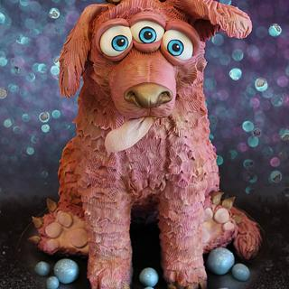 Caketastic ! Rose gold space dog !!