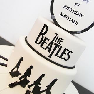The Beatles Themed Birthday Cake!