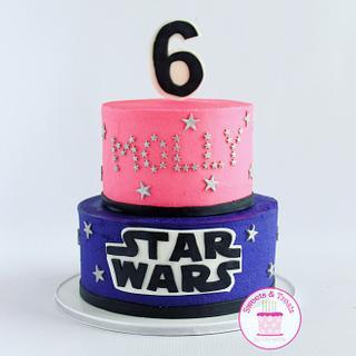 Girly Star Wars cake