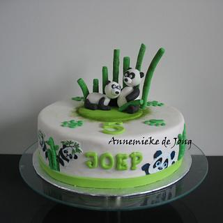 Panda Cake - Cake by Miky1983