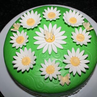 Daisy cake. - Cake by Natalia