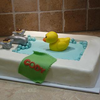 Bathtub baby shower - Cake by Marcia Hardaker
