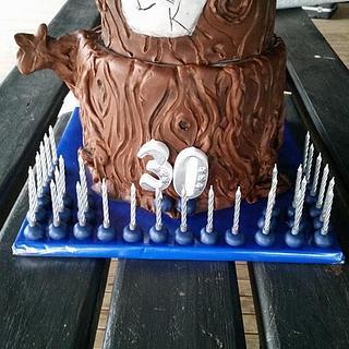 Luke & Karly's 30th B'day cake
