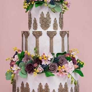 Italian Romance Wedding Cake