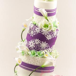 Wonky Wedding Cake - Cake by Crazy Sweets