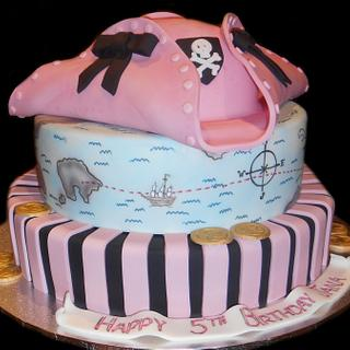 Pretty Pink Pirate Cake