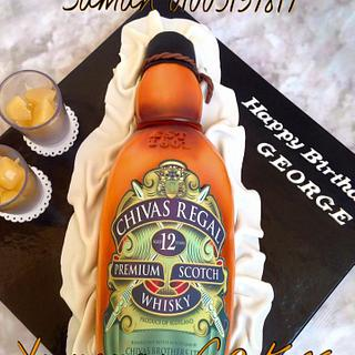 3D chivas regal bottle cake