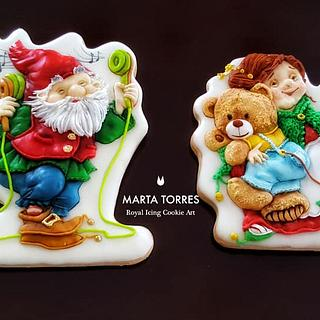 Christmas Preparation ........with fun - Cake by The Cookie Lab  by Marta Torres