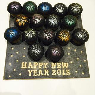 Happy new year - Cake by lesley hawkins
