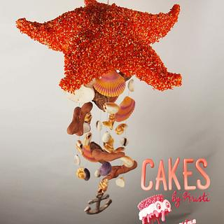 Starfish Windchime Sweet Summer Cake Collab