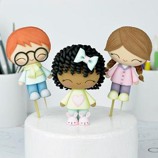 Cute Kids Cake Toppers