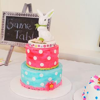 Spring theme Baby shower cake