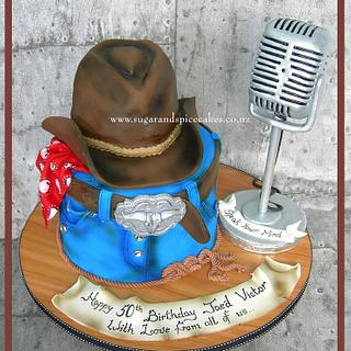 Yee Haw!!! Cowboy themed cake for a Radio Jockey