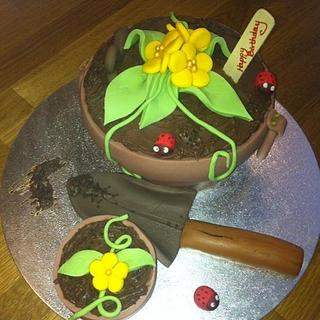 plant pot cakes - Cake by Denise1968