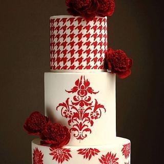 Pre- Valentine's Day Wedding Cake