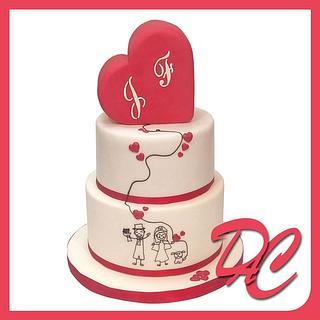 heart wedding cake new version - Cake by Alessandra