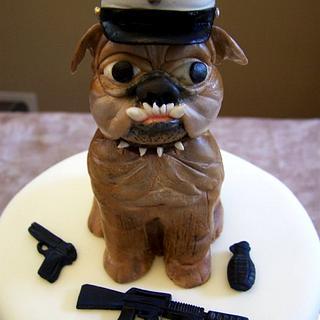 Bulldog Graduation - Cake by Theresa
