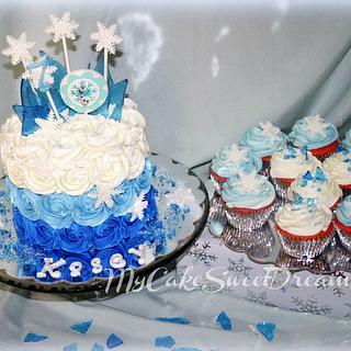 Disney Frozen Cake & Cupcakes