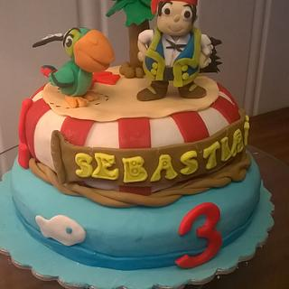 Jake and the neverland pirates - Cake by Maria Olsen