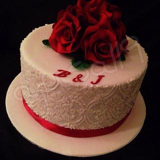Ruby wedding cake - Cake by ajusa119