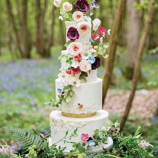 Woodland Wonderland Wedding Cake