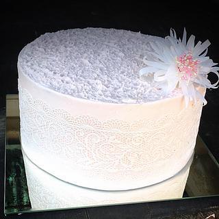 Romance lace cake