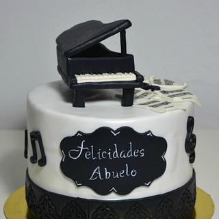 Piano cake - Cake by En Clave de Azucar