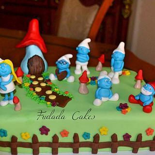 Smurfs cake