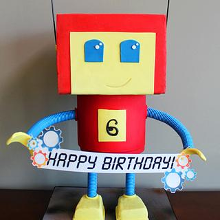 Mr. Roboto Birthday Cake