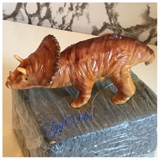 Triceratops dinosaur- cake topper