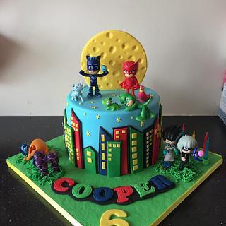 Pj masks cake  - Cake by Donnajanecakes
