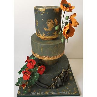 My wedding cake based on love and Gustav Klimt  - Cake by Andrea