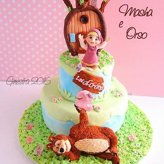 Masha and the bear - Cake by Ginestra