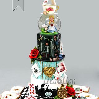 Alice in Wonderland Cake / Торта Алиса в страната на чудесата