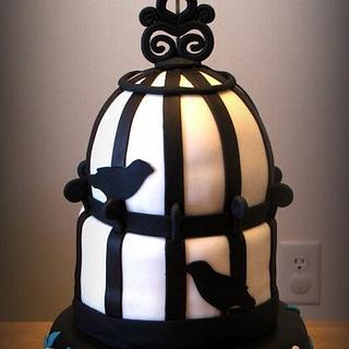 Vintage Bird Cage Cake - Cake by Deborah