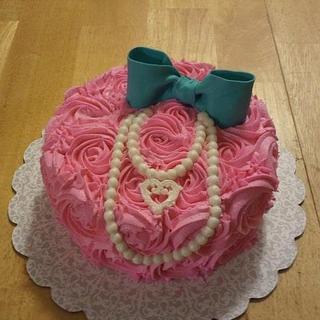 Pink Rosette Shabby Chic - Cake by Jen