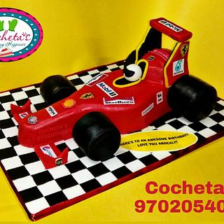 Formula 1 Ferrari Car Cake