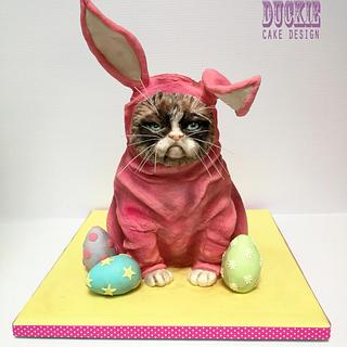 Grumpy Easter Cat