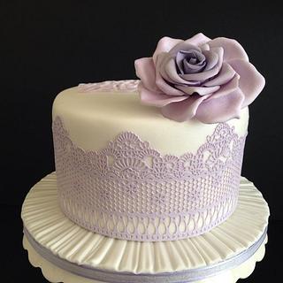 Lemon/limoncello birthday cake