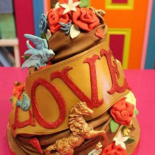 Whimsical Chocolate Cake
