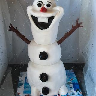 Olaf Birthday Cake - Cake by Kaye