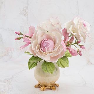 Romantic flower Paste Peony Spray