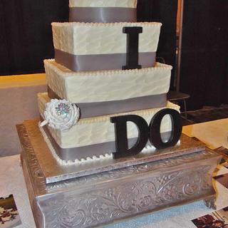 I DO Buttercream wedding cake
