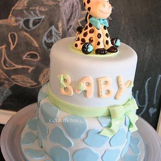 Baby giraffe baby shower cake for my Meg.